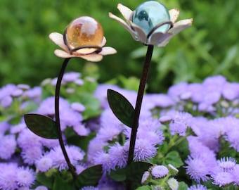 """Fairy Garden Gazing Balls 6"""" for the Fairy Garden (Choose Pink or Blue)"""