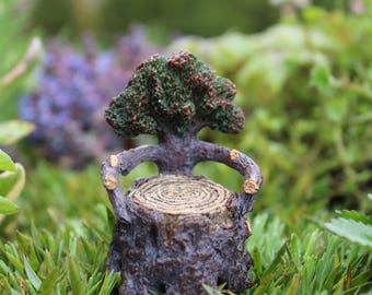 Itty Bitty Arm Chair 2.25″ Tall | 1.5″ Diameter for the Fairy Garden