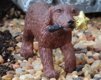 """Ginger the Puppy (1"""" Tall) for the Fairy Garden"""