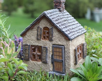 """The Gables House with Hinged Door 5.5"""" Tall for the Fairy Garden"""