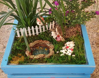 Fairy Lana and Mallard Duck Pond Fairy Garden Kit - (Plants and Soil not included)