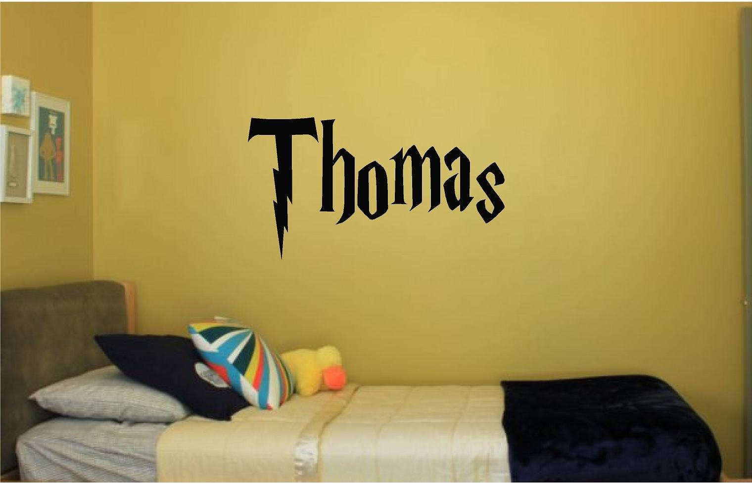 Harry Potter Decor Personalized Name Vinyl Wall Decal Boys | Etsy