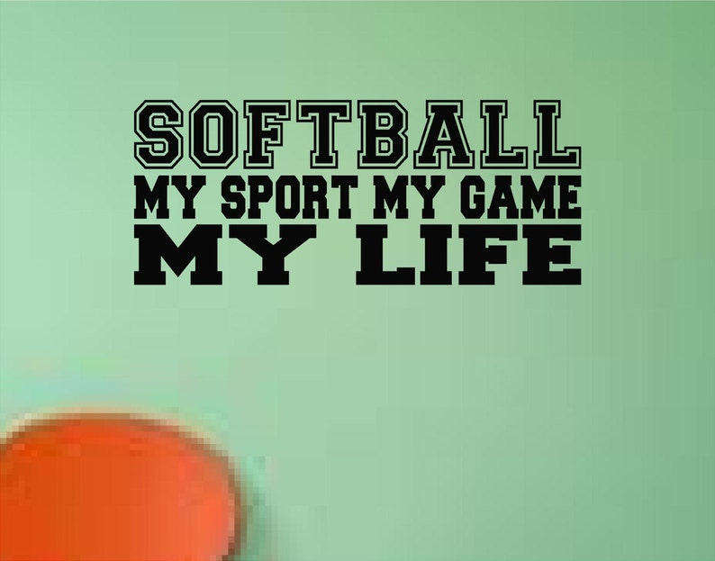 Softball Room Decor Softball My Game My Sport My Life Girls Etsy