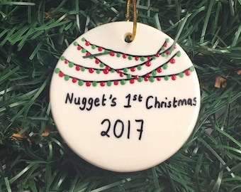 Baby's first Christmas Ornament, Personalized BABY Ornament, Baby's 1st Christmas, Pregnant mom gift, Ornament for Boy Or Girl Tree Ornament