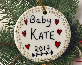 Personalized BABY Ornament, Baby's first Christmas Ornament, Baby's 1st Christmas, Pregnant mom gift, Ornament for Boy Or Girl Tree Ornament