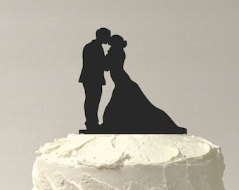Made in USA, Silhouette Cake Topper  Mr and Mrs Silhouette Wedding Cake Topper Bride and Groom Cake Topper