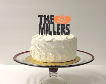 MADE In USA, Halloween Cake Topper, Personalized Halloween Cake Topper, Wedding Cake Topper Pumpkin Cake Topper Halloween Decoration