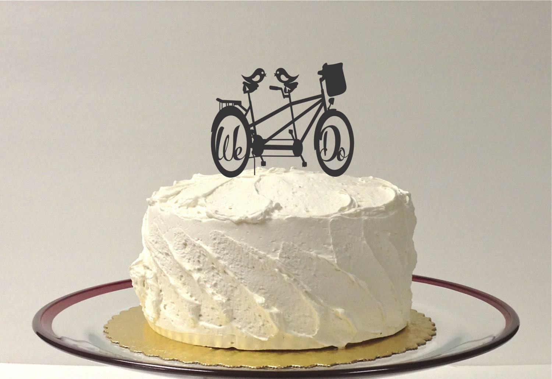 Made In Usa Bicycle Wedding Cake Topper Bike Cake Topper
