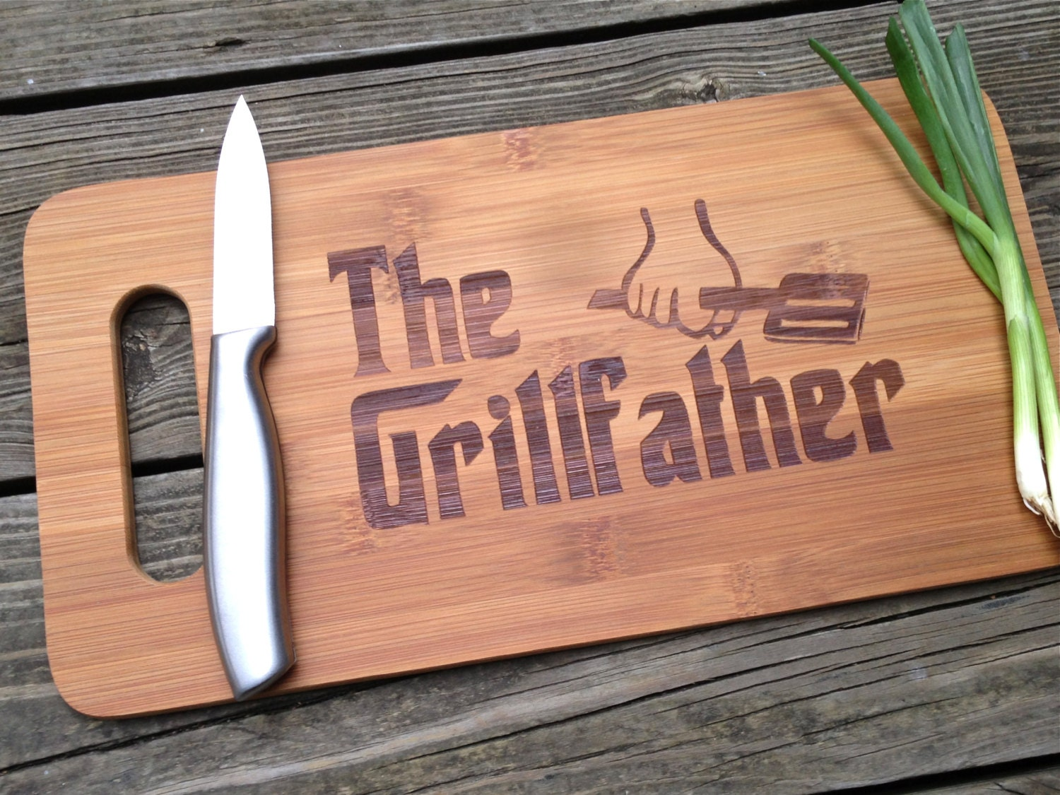 The Grill Father Engraved Cutting Board 14 X 75 Gift For Dad Etsy Business Card Holder Circuit Geekery Mens Stained Glass Handmade 50