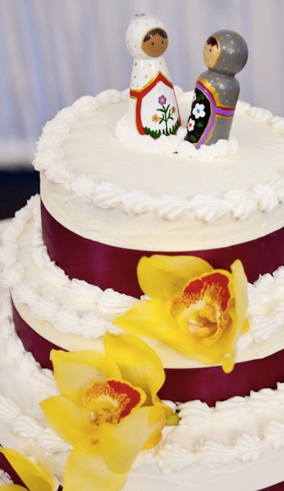 Russian Dolls Matryoshka WEDDING CAKE TOPPER Bride and Groom | Etsy