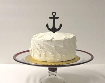 MADE In USA, Anchor Wedding Cake Topper Nautical Wedding Cake Decoration Wedding Beach Themed Cake Topper Nautical Anchor Cake Topper