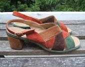 vintage 8.5 neutral suede sandals