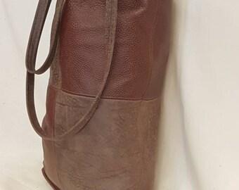 Super large Leather shopping bag
