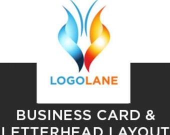 Business Card & Letterhead Layout.