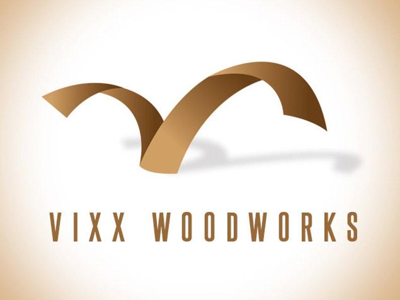 Premade Logo Wood Logo Wood Works Logo Design Business image 0