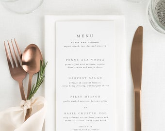 Poppy Dinner Menus - Deposit