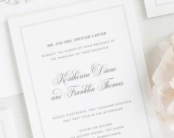 Simply Classic Wedding Invitations - Deposit