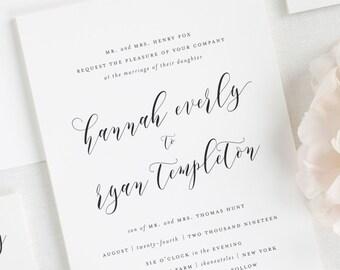Everly Wedding Invitations - Deposit