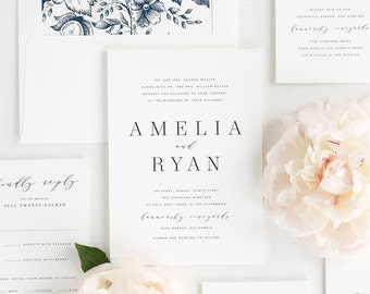 Amelia Wedding Invitation - Deposit