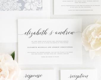 Elegant Romance Wedding Invitations - Deposit