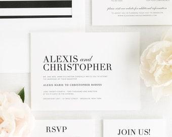 Urban Glamour Wedding Invitations - Deposit
