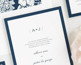 Sophisticated Modern Wedding Invitations - Deposit