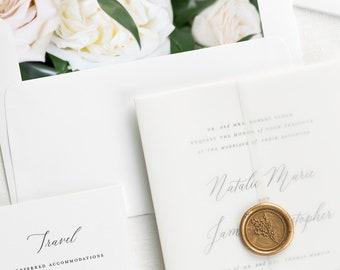 Natalie Floral Wedding Invitations - Deposit
