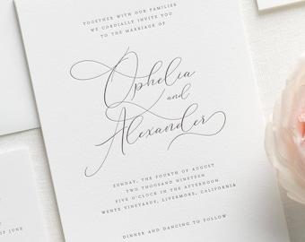 Letterpress Wedding Invitations.Letterpress Wedding Invitation Etsy