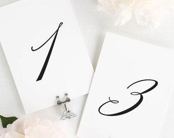 """Olivia Table Numbers - 5x7"""""""