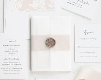 Natalie Vellum Wedding Invitations - Deposit