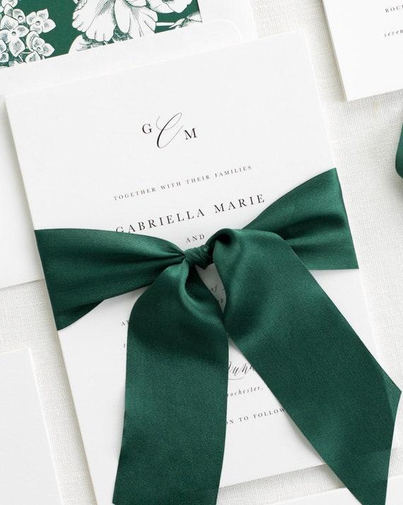 Gabriella Ribbon Wedding Invitations - Deposit