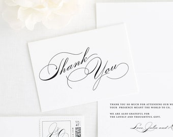 Vintage Glam Thank You Cards
