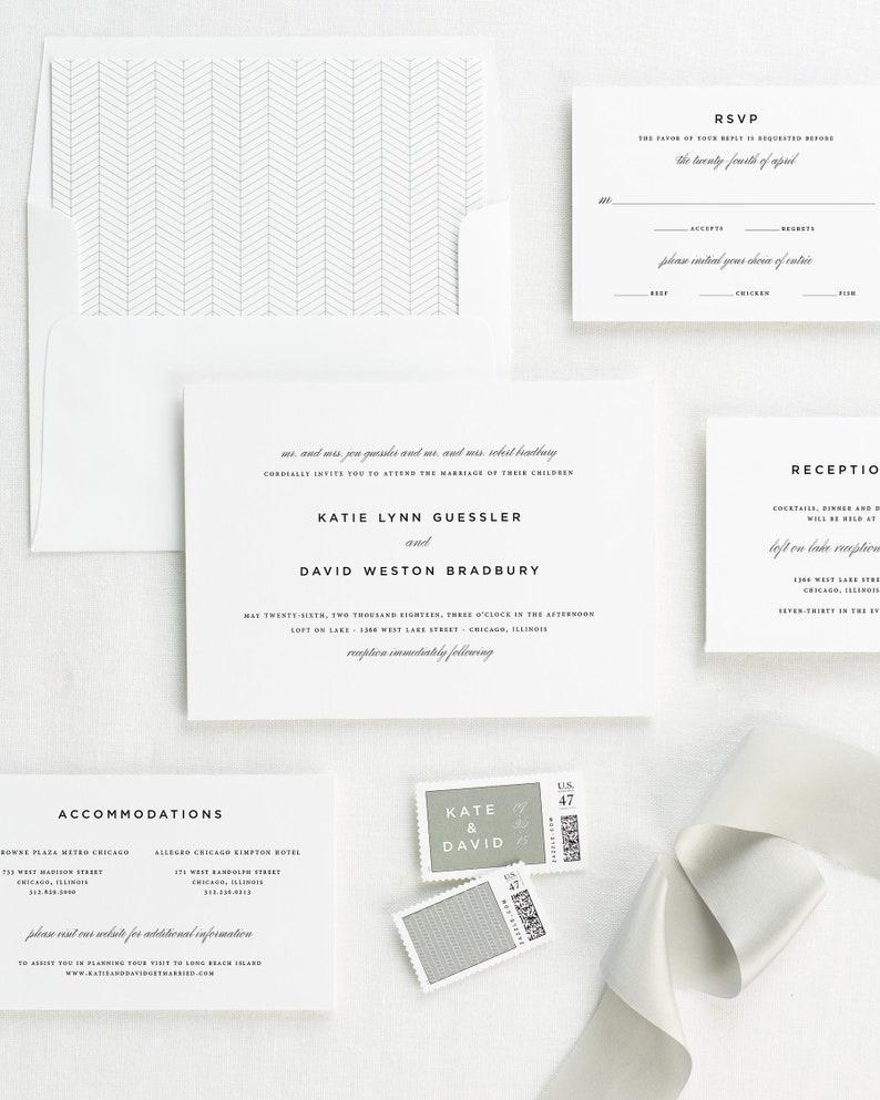 Classic Urban Vellum Wedding Invitations Deposit