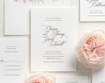 Quinn Letterpress Wedding Invitations - Sample