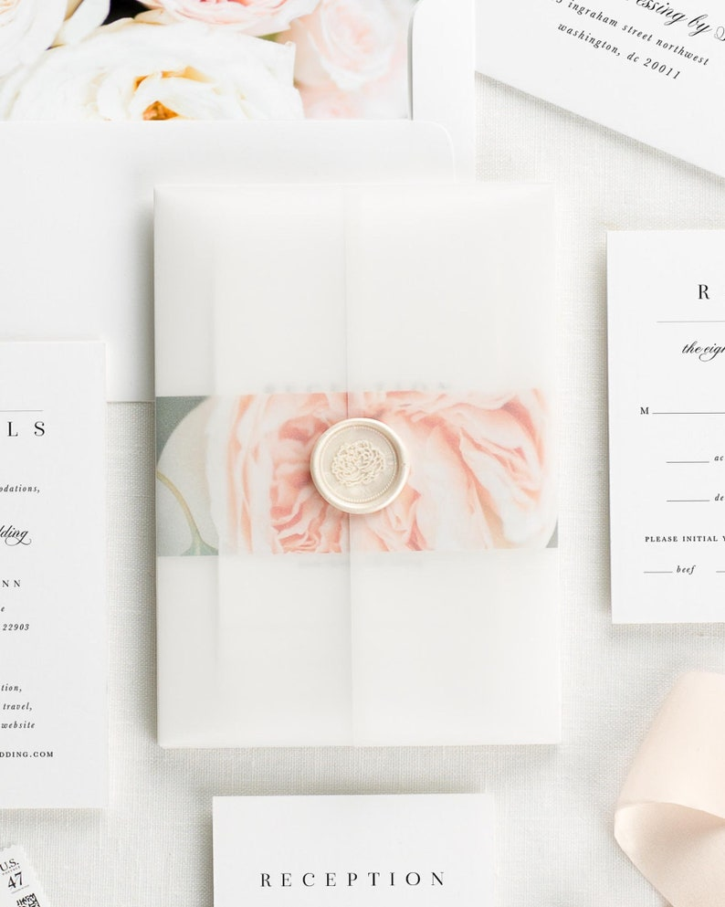 Zarah Floral Wedding Invitations Deposit