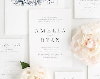 Amelia Wedding Invitations - Sample