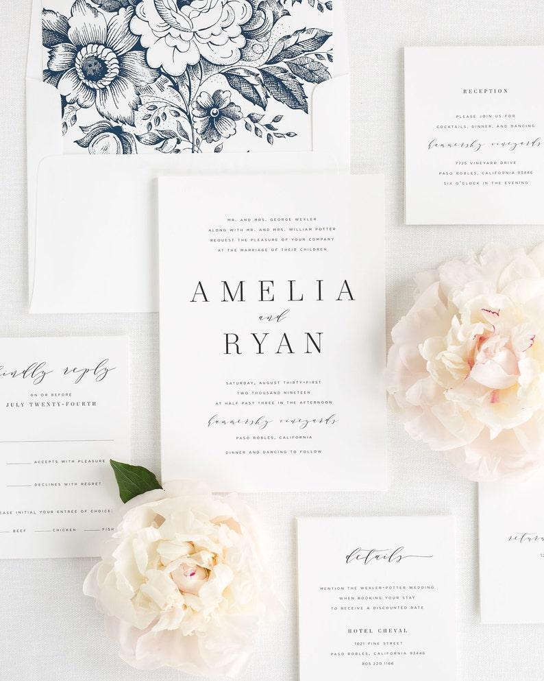 Amelia Wedding Invitations  Sample image 0