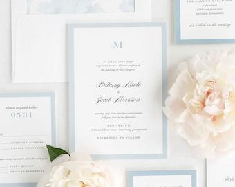 Upscale Monogram Wedding Invitation - Sample