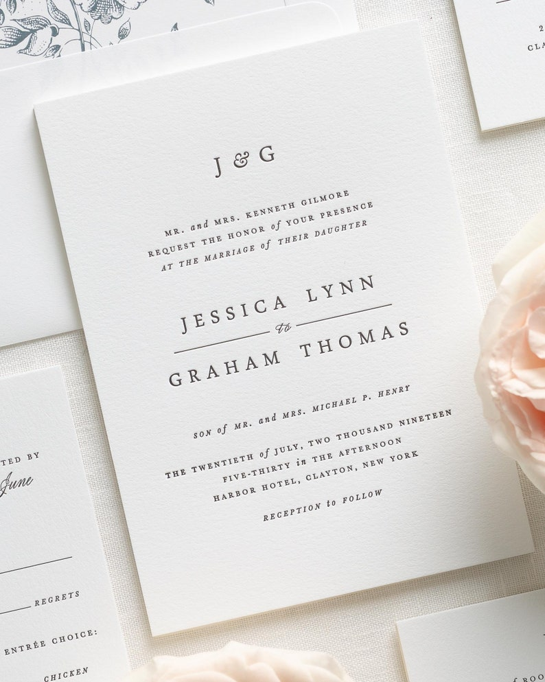 Jessica Letterpress Wedding Invitations
