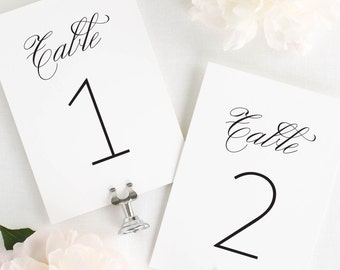 """1940s Table Numbers - 4x6"""""""