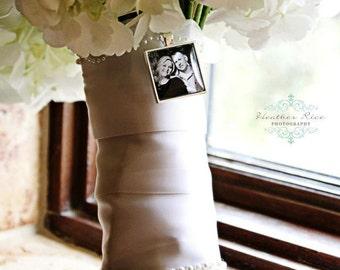 Custom  Photo Bridal Charm, Bridal Bouquet Charm, Memorial Charm for the Bride or Groom