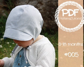 Short Brimmed Baby Bonnet Sewing Pattern    Reversible Baby Bonnet    Baby  Bonnet    Modern Bonnet Pattern    Baby Boy    Baby Girl    150e6d44654