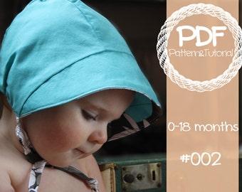 Brimmed Baby Bonnet Sewing Pattern / Reversible Baby Bonnet / Lamb / Kangaroo / Baby Sun Bonnet / Baby Sewing Pattern / Summer Bonnet