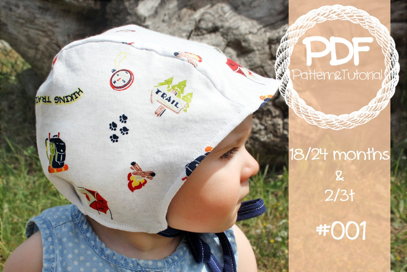 Toddler Brimless Bonnet Sewing Pattern Baby Bonnet Sewing Etsy