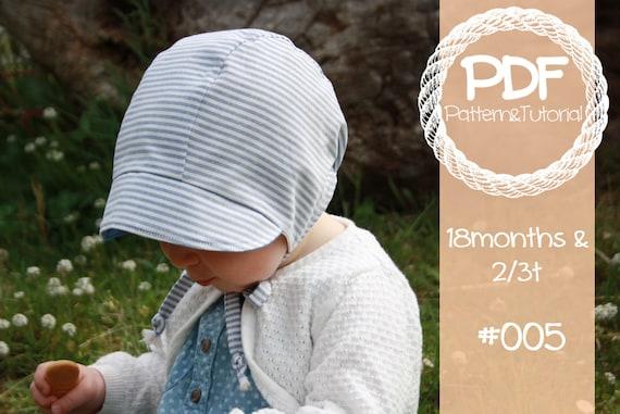 Short Brimmed Toddler Bonnet    Reversible Baby Bonnet Sewing  151de48af3c