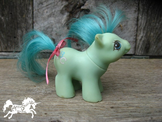 1986 My Little Pony Baby Noodles CHEW MARKS & FLAWS 2.5 Etsy