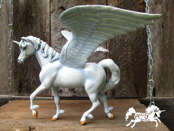 Winged Unicorn Figure 10 Inch Tall Custom Fsf Plastic Statue Etsy