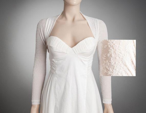 COSY Wedding Bolero in White,WHITE Wedding Bolero,Long Sleeve Bolero,Long Sleeve Wedding Bolero,Winter bridal bolero,Fingerless Bolero White