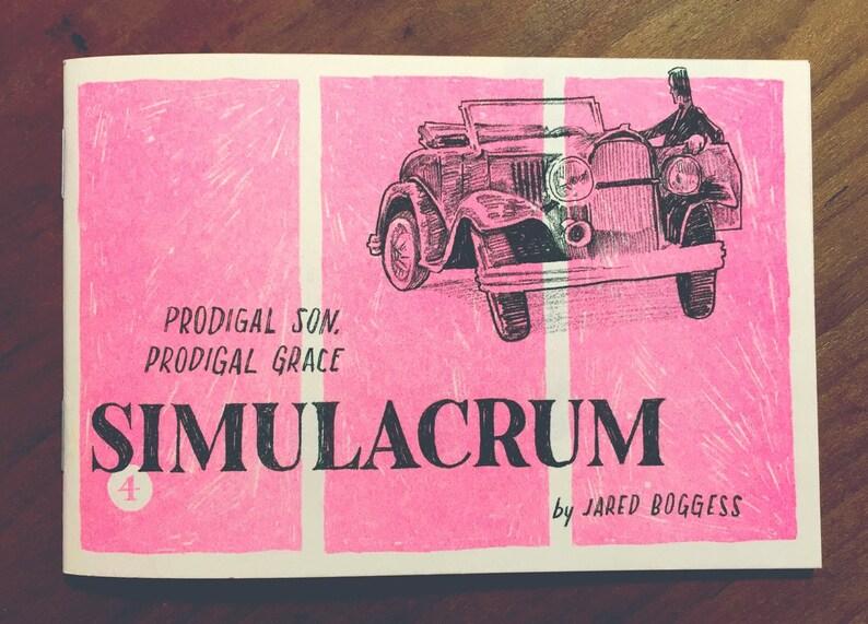 Simulacrum: Prodigal Son Prodigal Grace risograph zine Single