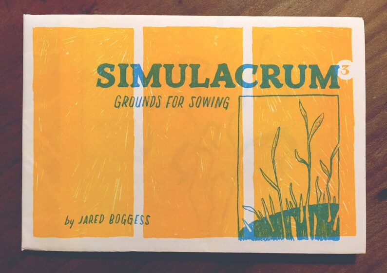 Simulacrum: Grounds for Sowing risograph zine Single